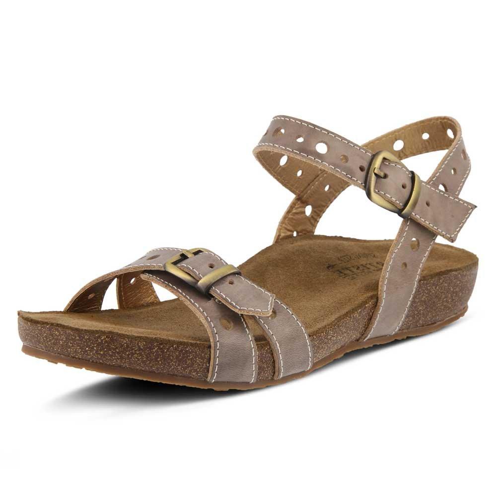L'Artiste by Spring Step Women's Style Technic Grey EURO Size 37 Leather Sandal B07955G7CJ Parent