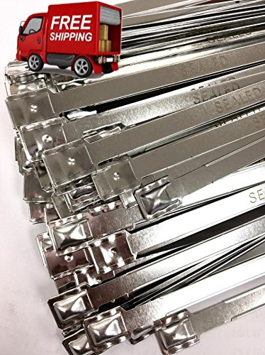 Lot of 8 ½ inches long Metal Truck and Trailer Flat Head Security Seals - Metal Flat Head Seal – Flat Metal Seals – Flat Metal Seals ( 400 Pack) by AVG Packaging Supplies