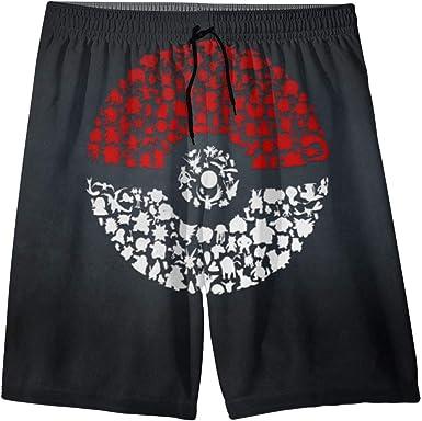 Amazon Com Teenager Swim Trunks Po Ke Mon Beach Pants Quick Dry