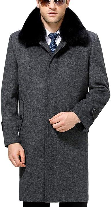 Manteau De Laine pour Hommes Longue Section épaissir