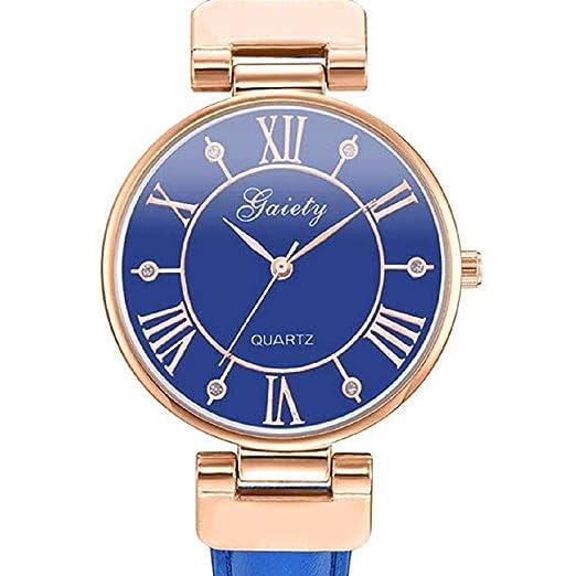 Scpink Relojes de Cuarzo de Las Mujeres de liquidación número Romano Crystal Analog Ladies Relojes Relojes