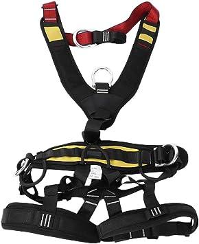 Bicaquu Trabajo aéreo Escalada en Roca Rescate Arnés Ajustable Cinturón de Seguridad de Cuerpo Completo Montañismo Equipo de ingeniería con 3 Anillos