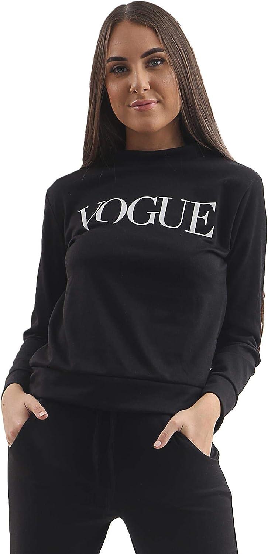 Tuta da Donna con Stampa Vogue e Tinta Unita 2 Pezzi Love My Fashions