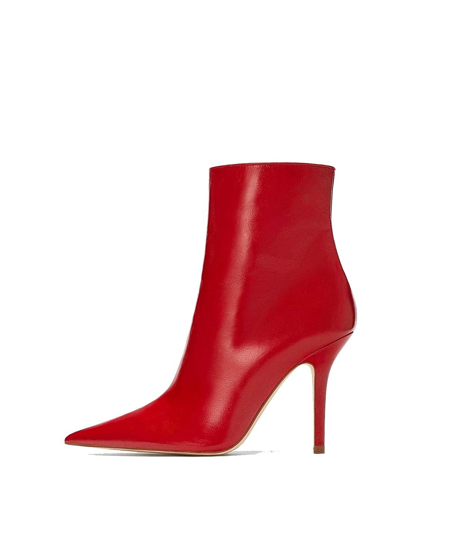 Zara, Stivali Donna Rosso Red, Rosso (Red), 36.5: Amazon.it