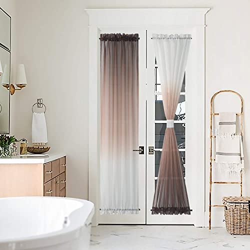 BGment Ombre French Door Curtain