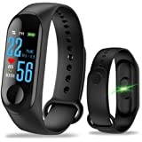 GeTuo M3 Fitness Tracker Smart Band Watch Bracelet Wristband Activity Tracker with Blood Pressure Heart Rate, Step Counter, Calorie Counter, Pedometer Watch for Kids Women and Men