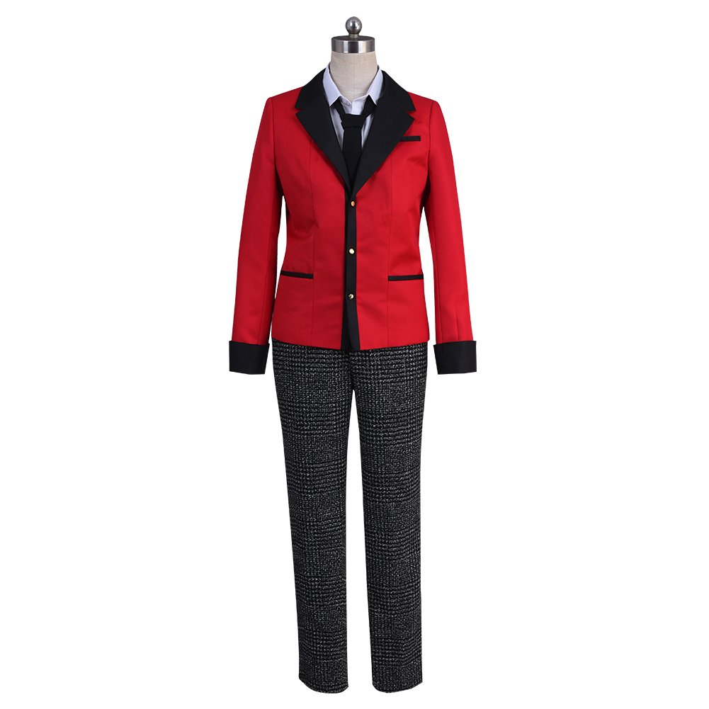 starfun Kakegurui Compulsive Gambler Suzui Ryota Cosplay Costume Manyuuda Kaede School Uniform Suit Red