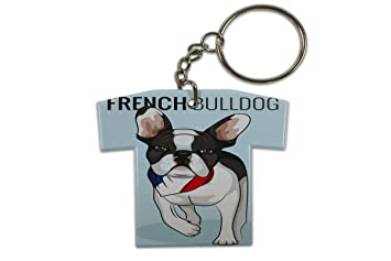 Llavero Perro bulldog francés Jersey impreso: Amazon.es ...