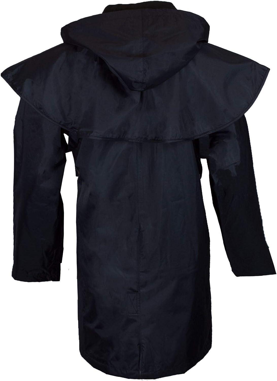 Nylon Veste Hunton Longueur 3//4 Capuche Amovible//Coutures /étanches Walker /& Hawkes Style Cape