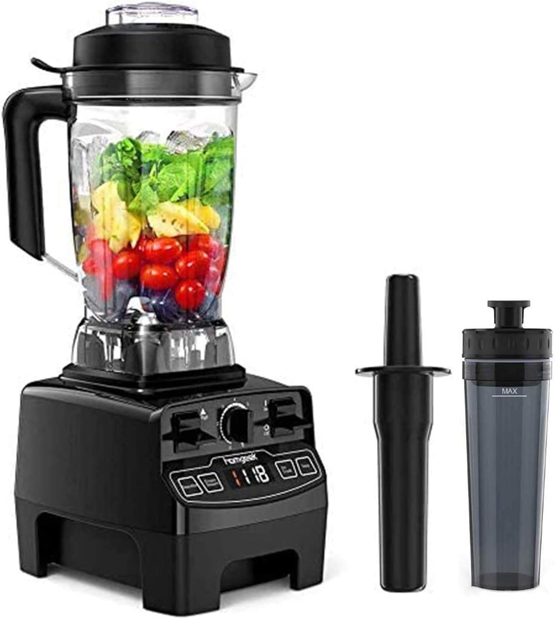Blender 1450w, Homgeek Professional Countertop Blender Smoothie Maker with 68oz BPA Free Tritan Container, High Speed Power Blender Built-in Timer for Crusing Ice, Frozen Desser [2020 Update Version]