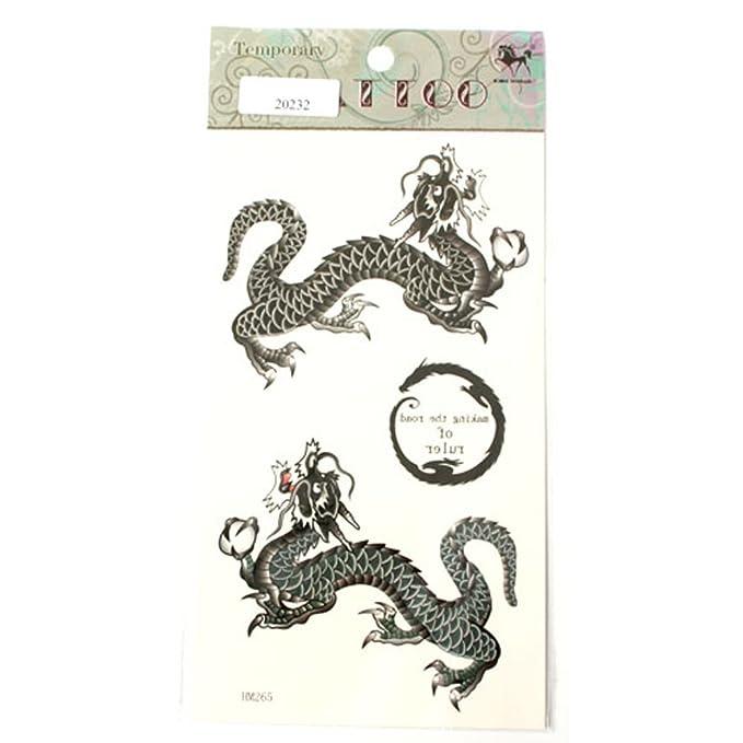 Tatuajes de dragones chinos en negro: Amazon.es: Belleza