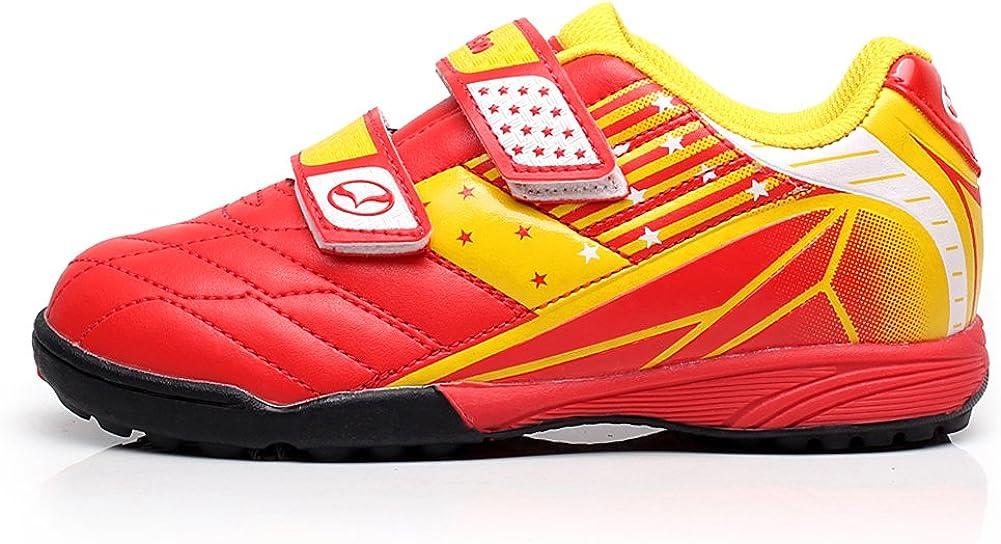 Tiebao Boys Cool Multicolor Hook/&Loop Football Shoes Fustal Soccer Sneakers Hard Ground Turf Indoor