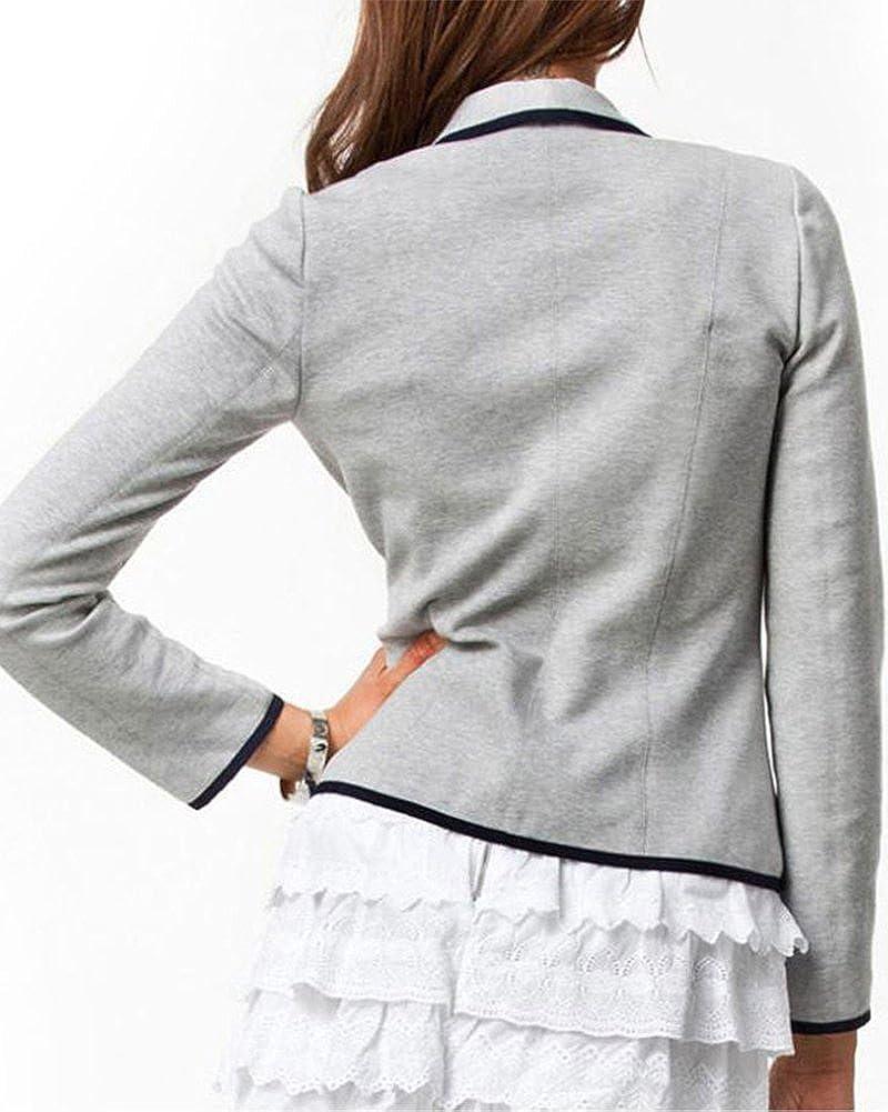 Kasen Donna Elegante Slim Maniche Lunghe Cardigan Outwear-Giacca Blazer Giubbotto Fit