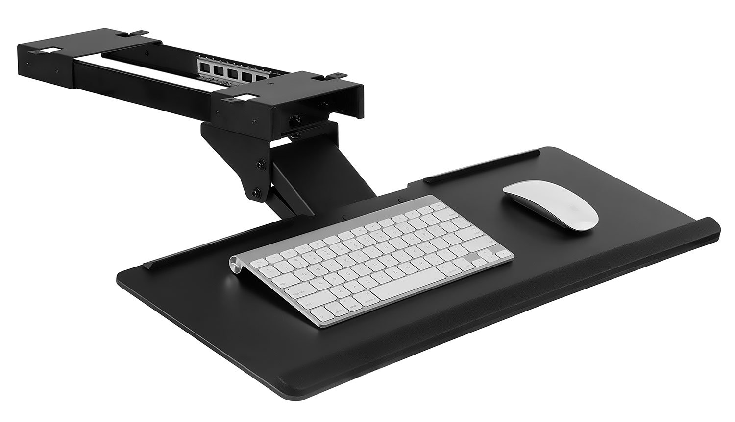 Mount-It! Under Desk Computer Keyboard and Mouse Tray, Ergonomic Keyboard Drawer with Gel Wrist Pad, Black