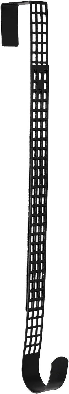 Haute Decor Hook & Lattice Adjustable Length Wreath Hanger, Matte Black (1)