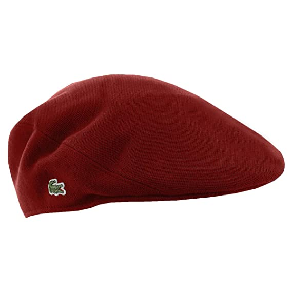 6e6544614452 Lacoste Mens RK0345 Cotton Pique Flat Cap - Pinot - L  Amazon.co.uk   Clothing
