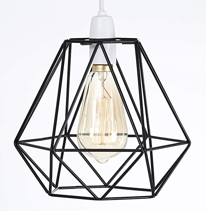 Metal Wire Basket Cage Style Light Shade Funky Retro Modern