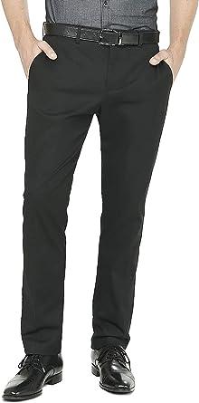 Amazon Com 2k Store Pantalones De Vestir Para Hombre Ajustados Ajustados Sin Arrugas Con Parte Delantera Plana Suave Clothing