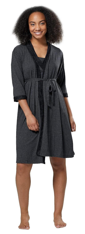 HAPPY MAMA Damen Umstands Nachthemd//Pyjama//Morgenmantel SEPARAT ERH/ÄLTLICH 1015