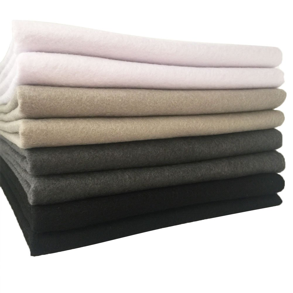 flic-flac 28pcs 12 x 8 inches 30cmx20cm 1.4mm Thick Soft Felt Fabric Sheet Assorted Color Felt Pack DIY Craft Sewing Squares Nonwoven Patchwork