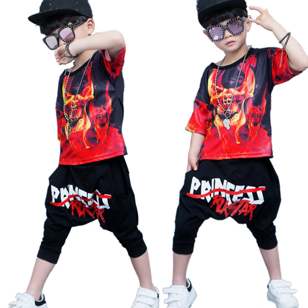 1807dd829 Moyuqi Children Jazz Dance Clothing Boys Street Hip Hop Costumes Kids  Performance: Amazon.co.uk: Sports & Outdoors