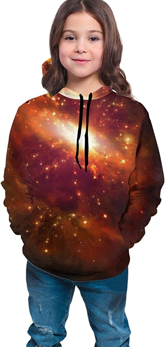 Teen Pullover Hoodies with Pocket Explosion in Space Soft Fleece Hooded Sweatshirt for Youth Teens Kids Boys Girls