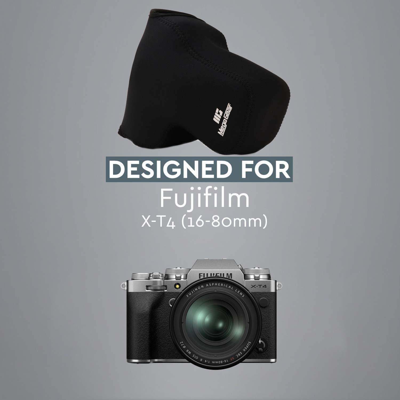 Megagear Mg1916 Ultraleichte Neopren Kameratasche Kompatibel Mit Fujifilm X T4 Xf16 80 Mm Schwarz Elektronik