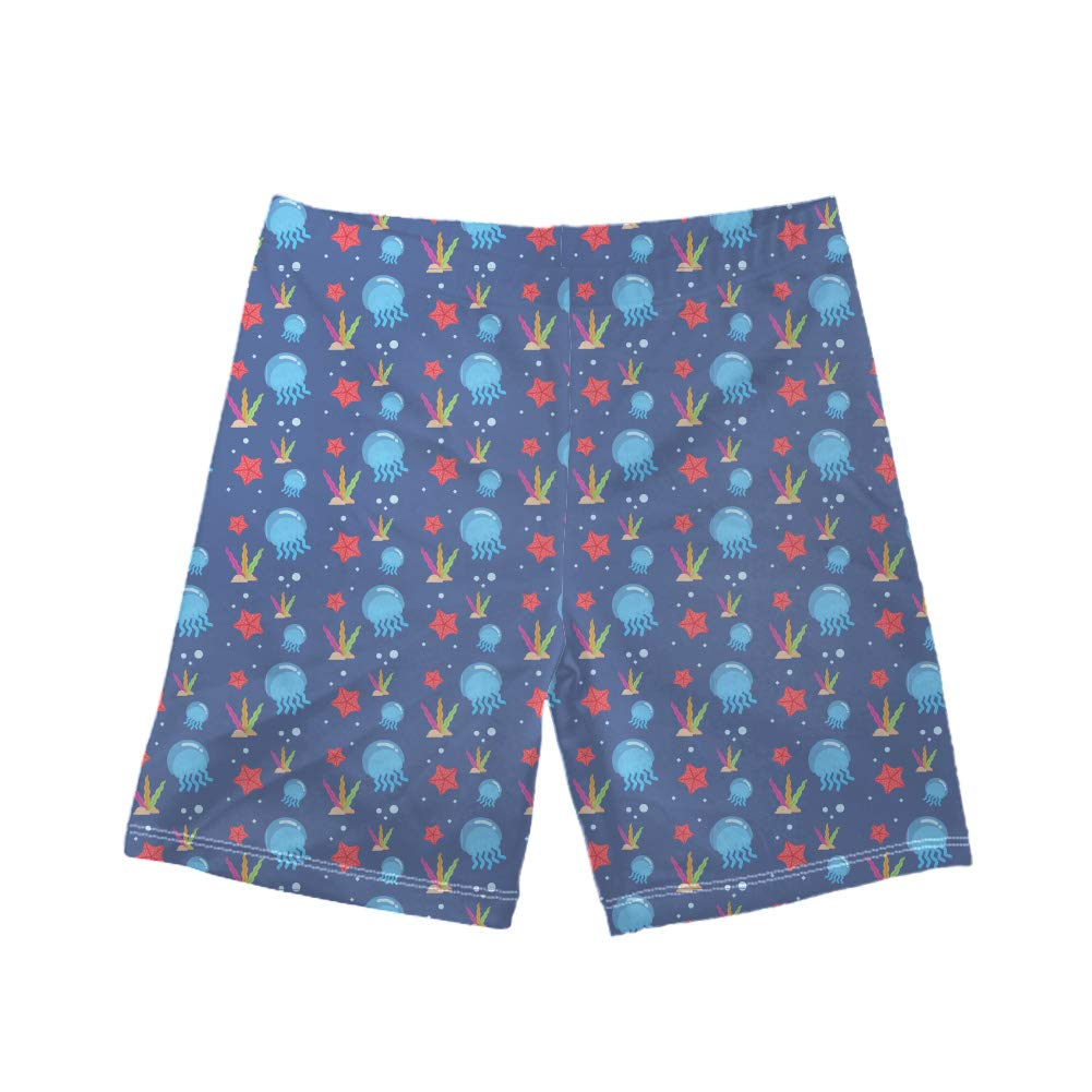 Freewander Boys Swim Shorts for Big Boys and Toddlers Cute Bathing Suit Sea Creature Print Suitable for Beach Wear/&Swimming