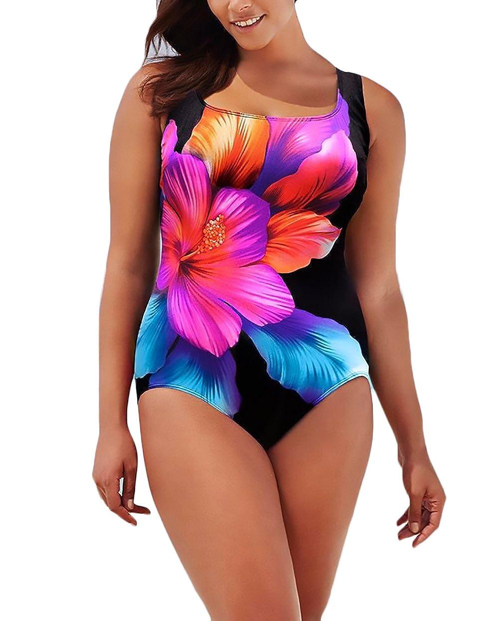 Costumi Interi Donna Taglie Forti Un Pezzo Bikini Estati Moda Stampato Floreale Backless Piscina Costume Da Bagno Plus Size Mare BOLAWOO
