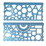 BronaGrand Plastic Templates Drawing Geometric