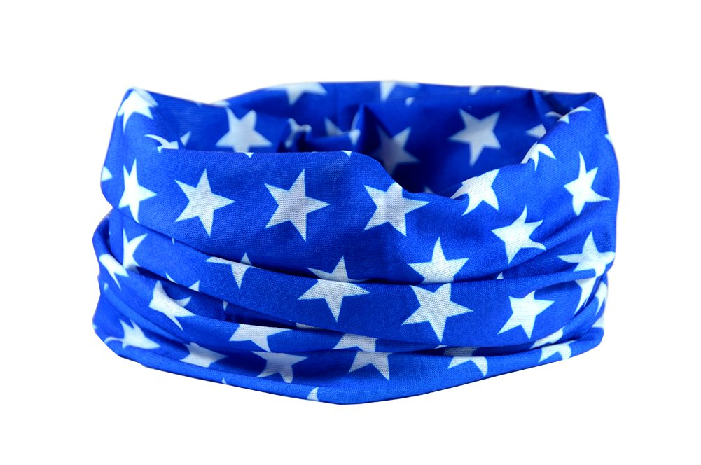 RUFFNEK PAÑ UELO BANDANA BLUE STAR Prendas Para Cabeza Multifuncional Moto Calentador de cuello - Talla Ú nica RUFFNEK®