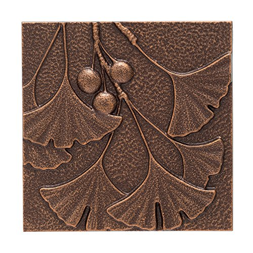 Whitehall Products Gingko Leaf Wall Decor, Antique Copper (Architectural Leaves)