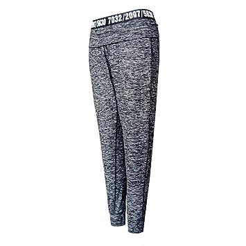 Imzoeyff Fitness Yoga Pantalones Cintura Cartas Casual ...