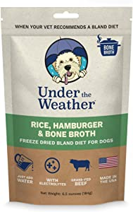 Under the Weather Pets All Natural Freeze Dried Dog Food with Bone Broth for Sick Dogs & Dogs with Sensitive Stomachs; No Artificial Flavors, Gluten-Free, Electrolytes & 100% Human Grade Meat