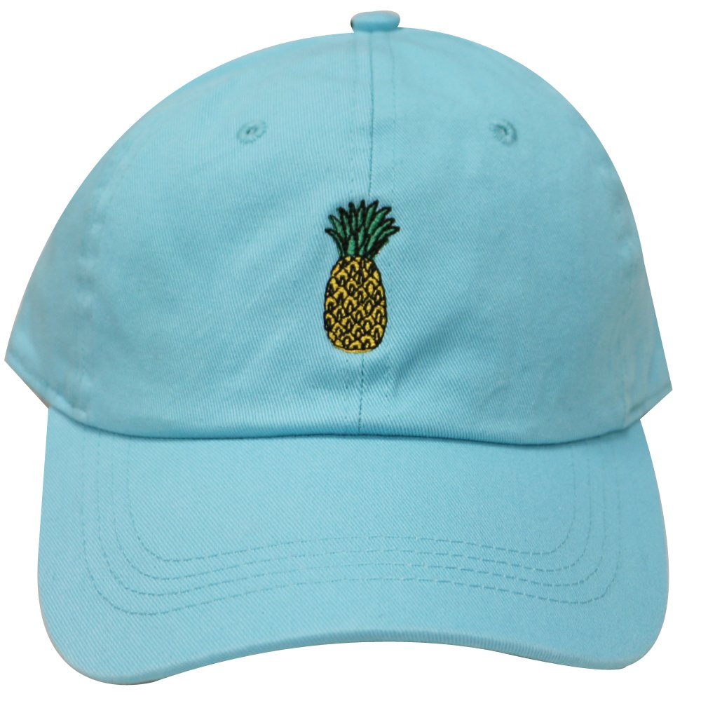 936c137334379 City Hunter C104 Pineapple Cotton Baseball Cap Multi Colors (Aqua) at  Amazon Men s Clothing store
