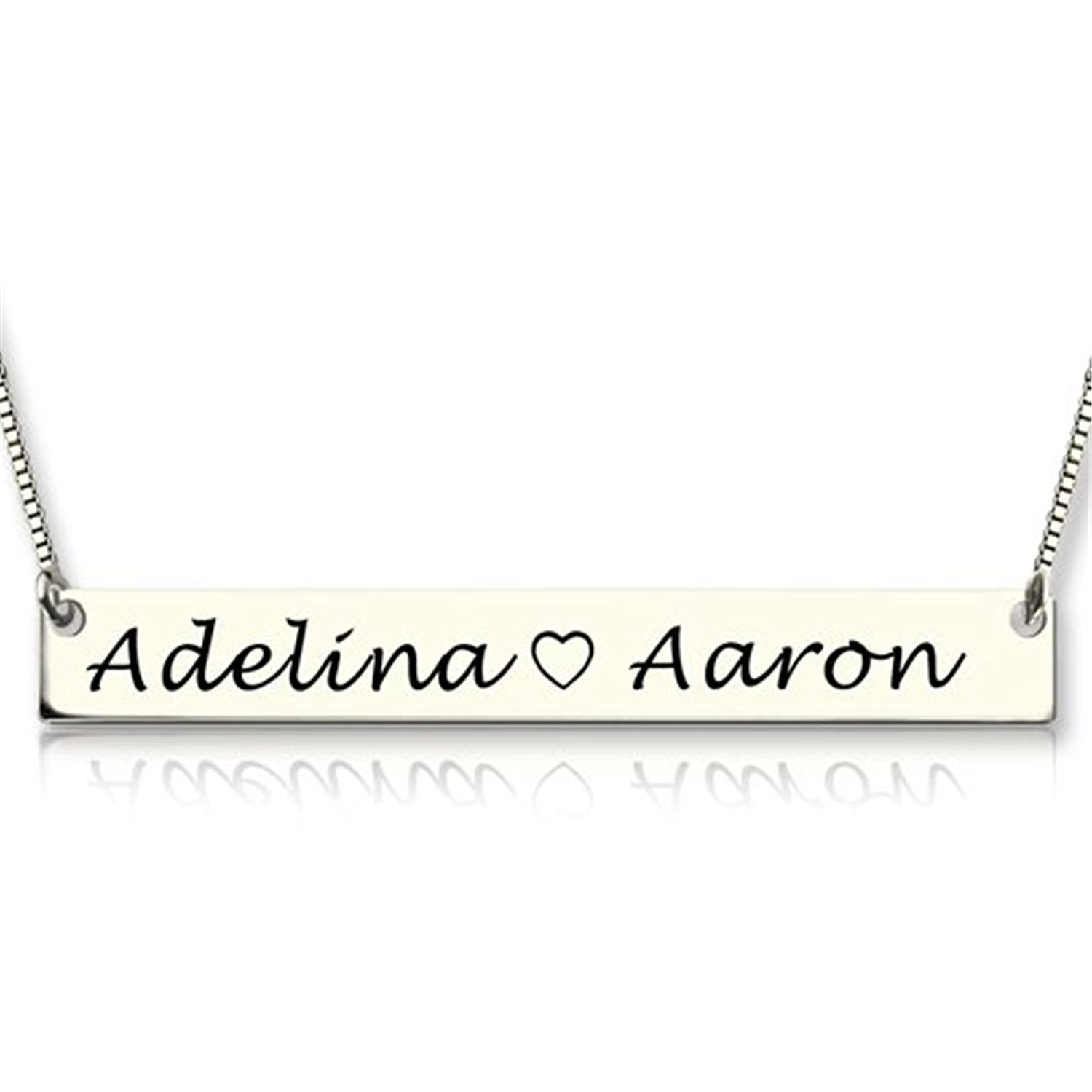 8531189b8dca0 Amazon.com: Bar Necklace Jewelry - Personalized Name Necklace ...