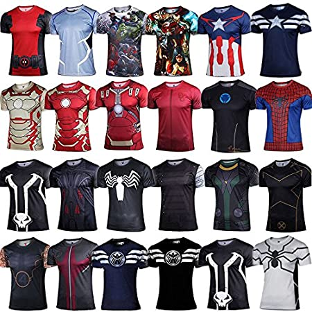 Amazon.com   FidgetFidget T-shirt Mens Compression T-shirt Cosplay Costume  Casual Sports Base Layer Blouse   Tops  22 Future spider-man XL (Summer ... 374c112f1