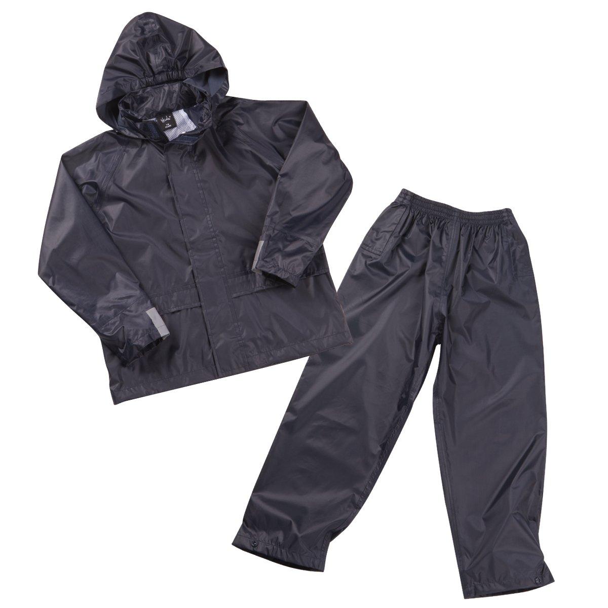 4 KIDZ Boys Kids Childrens Waterproof Jacket Coat Trousers Pants Set Hooded Tracksuit 4KIDZ