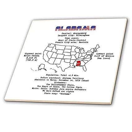 Amazon.com: 3dRose Alexis Design - American States - Alabama ...
