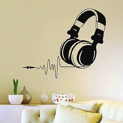 Vinyl Wall Decals DJ Headphones Audio Music Pulse Sign Decal Sticker Home Wall Decor Art Mural & Vinyl Wall Decals DJ Headphones Audio Music Pulse Sign Decal Sticker ...