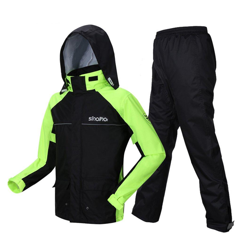 Rainsuit- Raincoat Rain Pants Suit Waterproof Full Body Double Raincoat Adult Split Men and Women (Size : L)