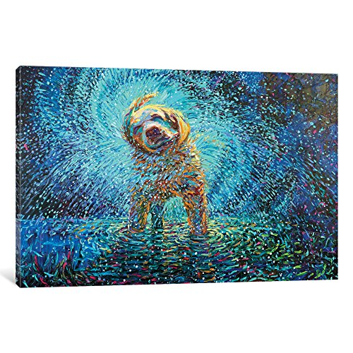 """iCanvasART iCanvas Labrador Jazz Gallery Wrapped Canvas Art Print by Iris Scott, 26"""" x 18"""" from iCanvasART"""