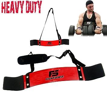FS brazo Blaster bíceps tríceps Bomber aislador muscular Fitness gimnasio Entrenamiento formación apoyo nuevo, Rojo: Amazon.es: Deportes y aire libre