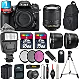 Holiday Saving Bundle for D7200 DSLR Camera + 18-105mm VR Lens + Backup Battery + Backpack + 1yr Extended Warranty + Flash + 2 Of Ultra Fast 16GB Class 10 + 0.43X Wide Angle - International Version