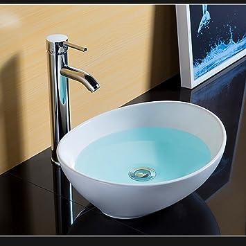 Waschbecken Schussel Oval Counter Top Mini Keramik Moderne Garderobe