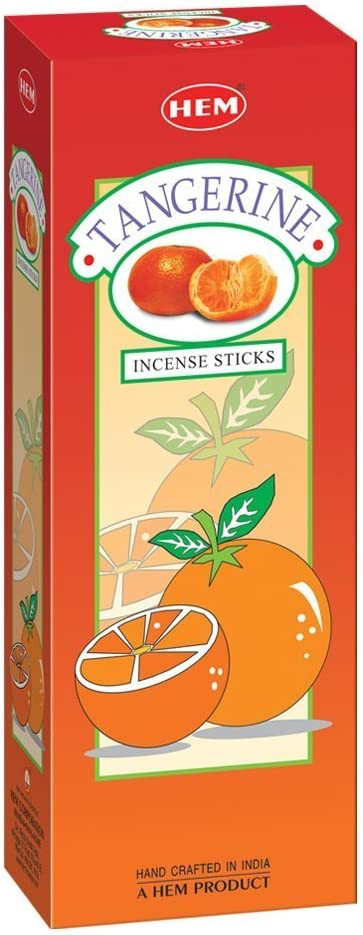 Tangerine - Box of Six 20 Stick Tubes - Hem Incense