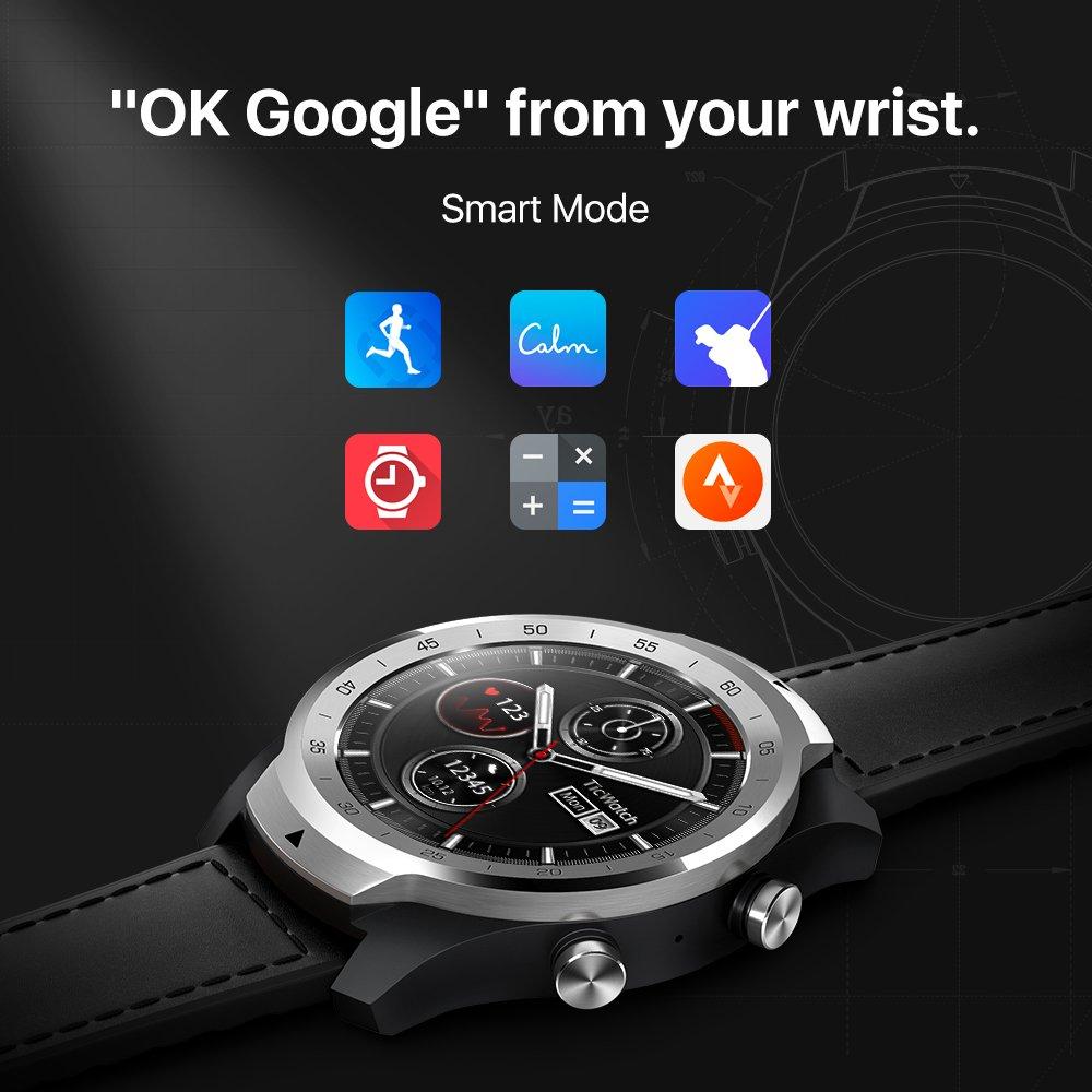 TicWatch Pro Reloj Inteligente con Bluetooth, Pantalla con ...