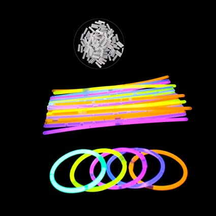 cencity multi color fluorescence light glow sticks bracelets neon necklaces rally raves for kids raves