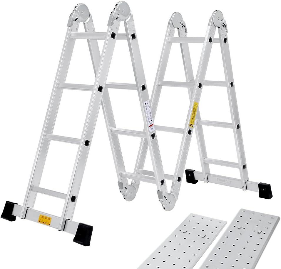 finether Escalera multiusos Escalera Articulación – Escalera escalera escalera de aluminio multifunción Escalera escalera escalera escalera de alta calidad aluminio Resistente 4 años de garantía: Amazon.es: Bricolaje y herramientas