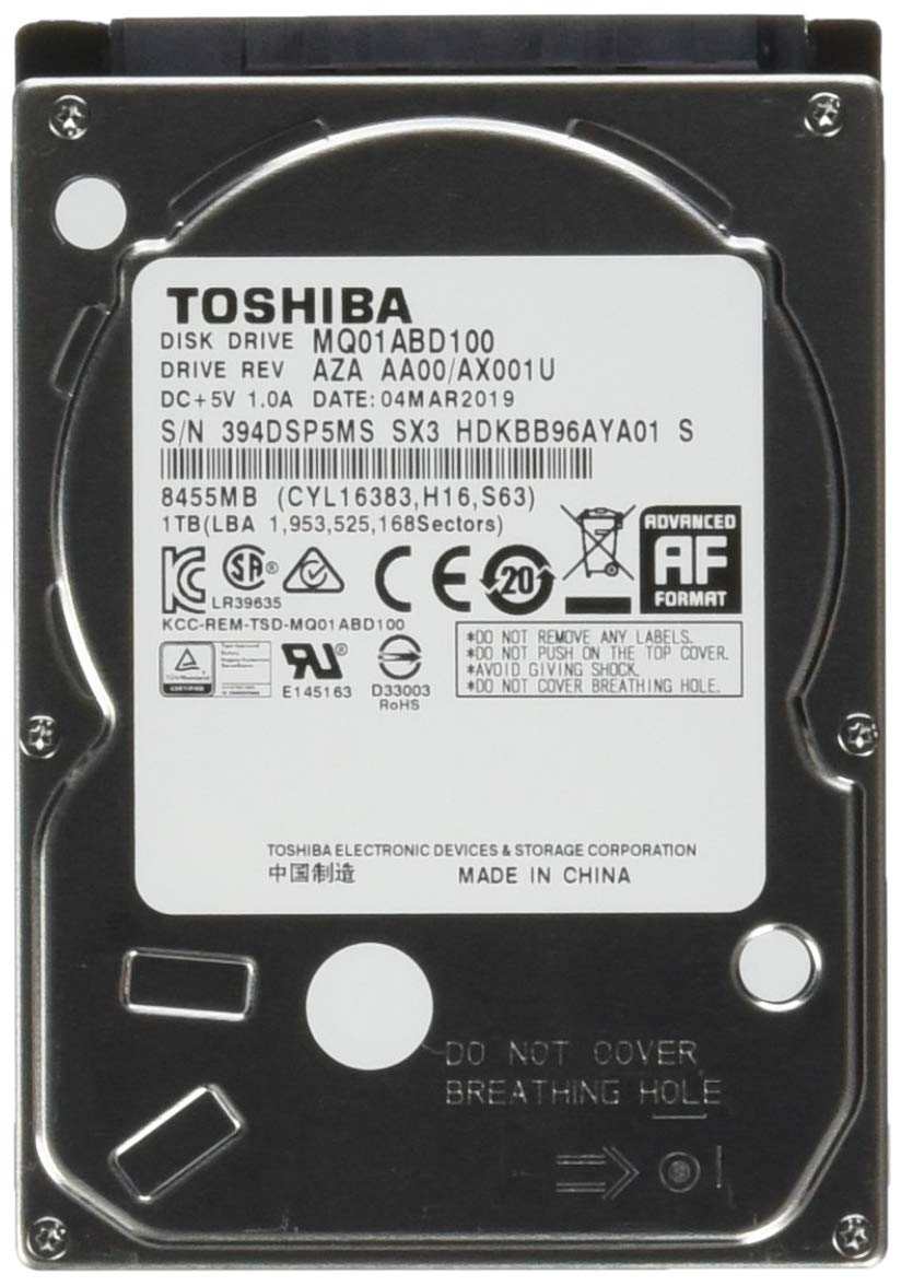 Toshiba MQ01ABD 1 TB 2.5'' Internal Hard Drive MQ01ABD100 by Toshiba